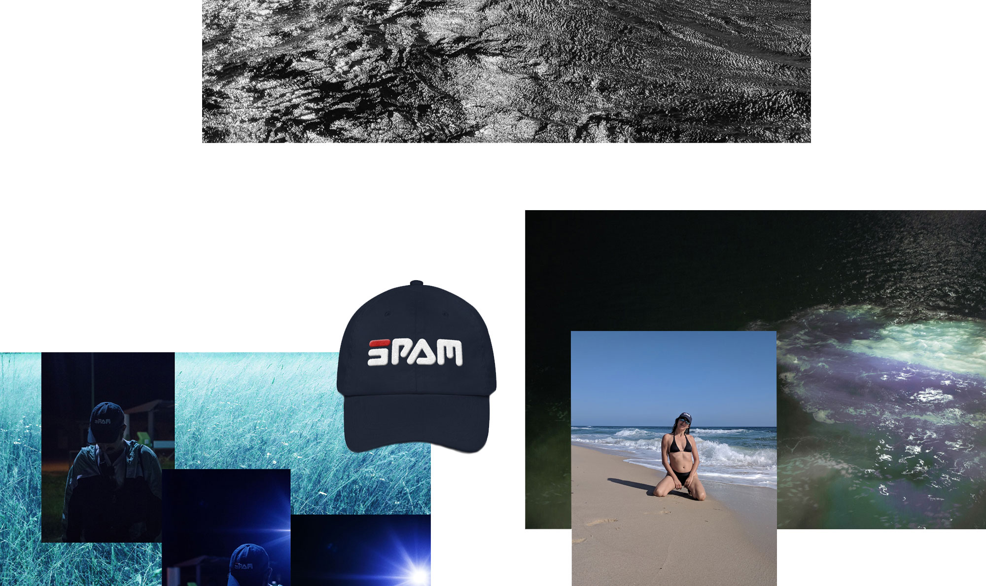 Original Spam Cap on beach